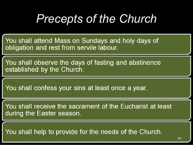 Precepts of the Church – St. Mary of the Seven Dolors