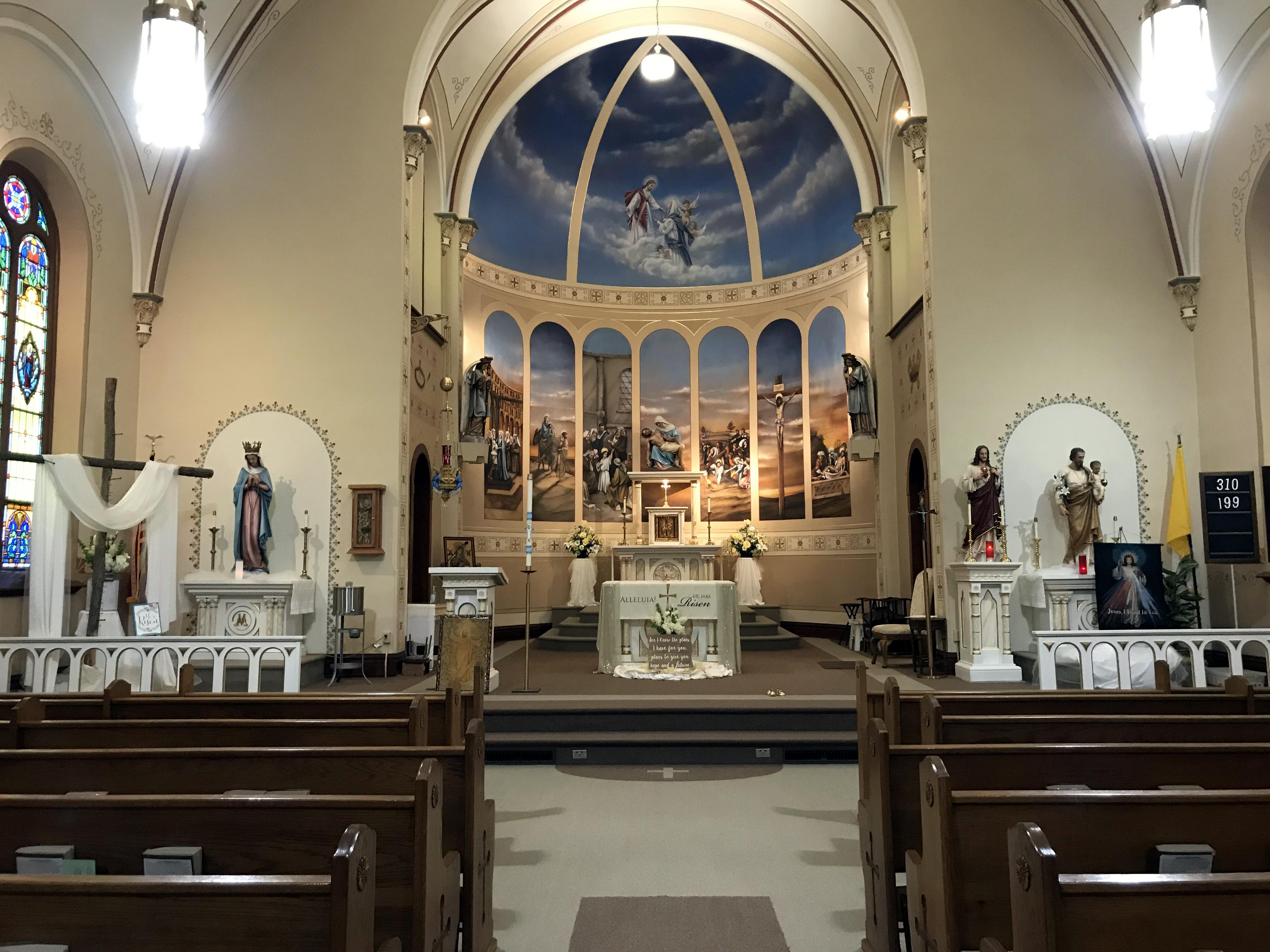 Catholic Church and Catholic School - Osmond, Nebraska