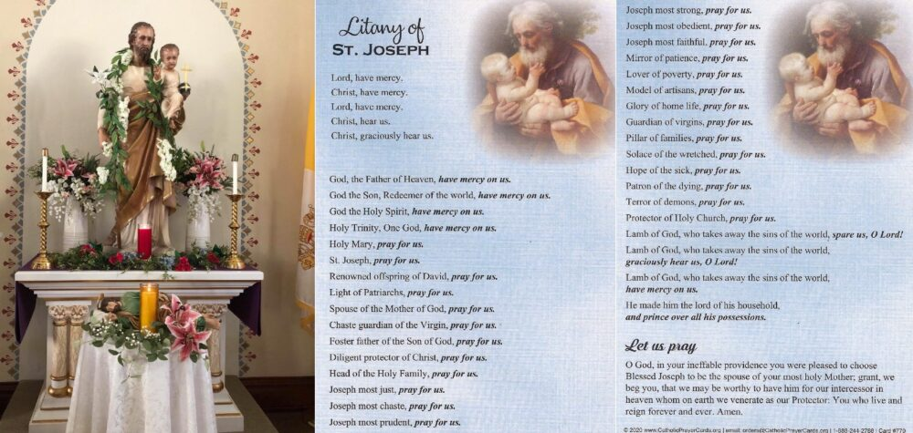 Litany Of St. Joseph – St. Mary of the Seven Dolors